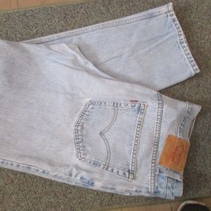 Mens Levi 550 Jeans Relaxed Fit 40X32